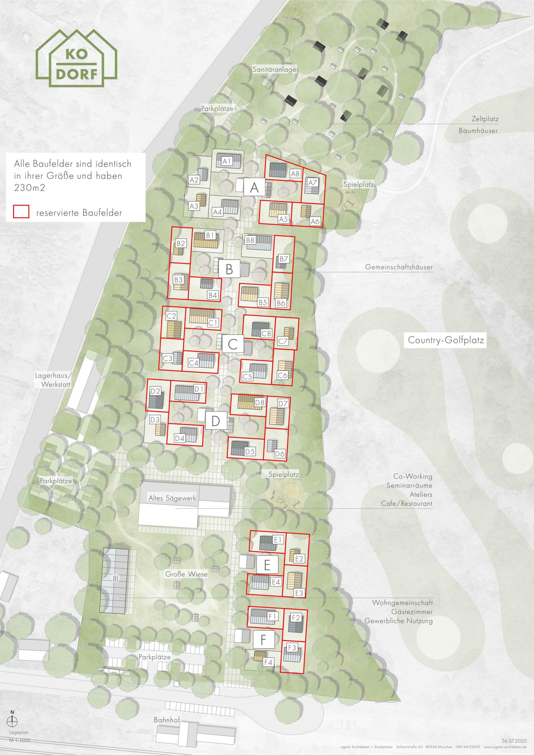Bauplan mit Reservierung vom 24.07.2020